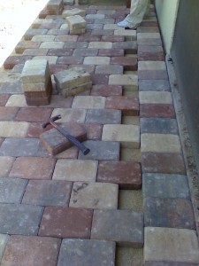 During New Paver Installation